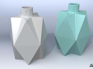 Design of some bottles, glasses and tanks