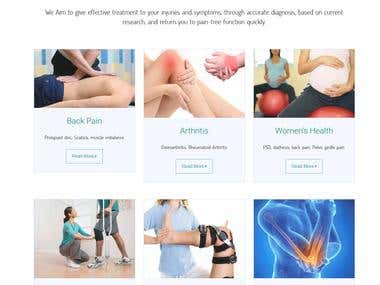 Physio health Care Website (ASP .net MVC 5)