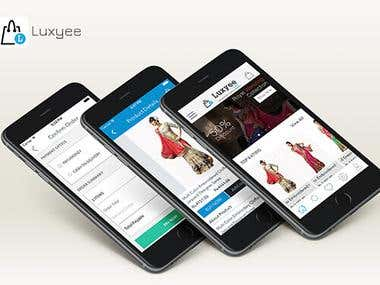 e-Commerce Mobile App Luxyee Online iPhone and Android  App