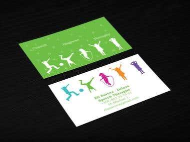 Speech therapist business cards