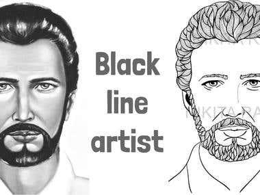 Black line artist