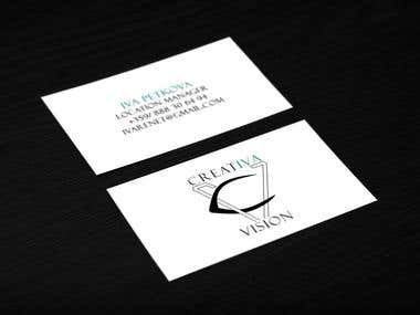Business card and logo for a location manager