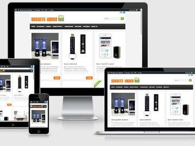 Affiliate website http://gadgetsunder100.com/