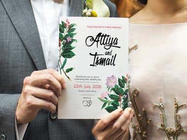 Design Wedding Invitation