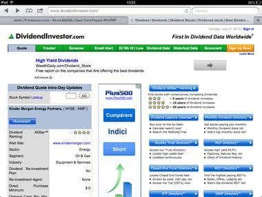 Stock Market Sites