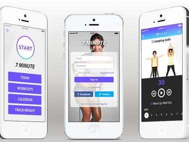 7 Minute Fitness app.