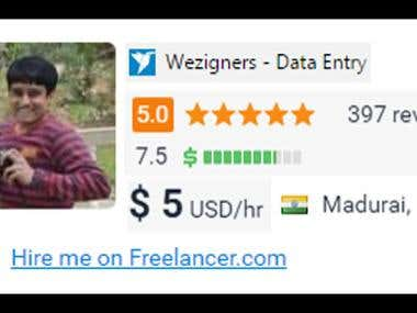 Wezigners - Data Entry Clerk - India | Freelancer