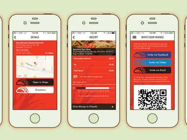 Shwanky's Food Ordering App for IOS and Android.