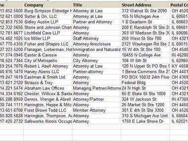 Attorney Database