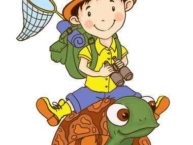 мальчик на черепахе