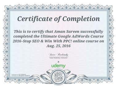 Udemy Certified