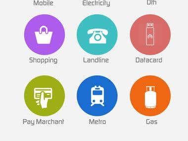App menu design