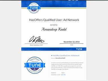 Tune Certification