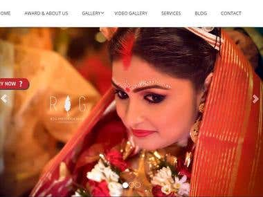 Website for Wedding photo gallery