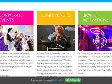 Developing a website for event management