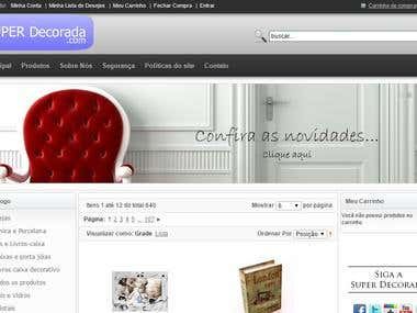 E-commerce decoration items.