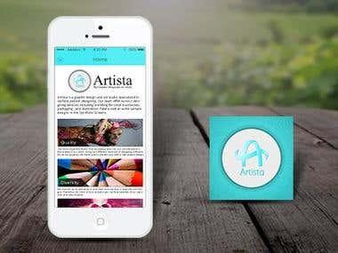 Artista Graphic Design Mobile App