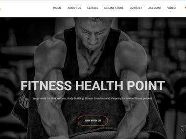 Commercials Health Products Site