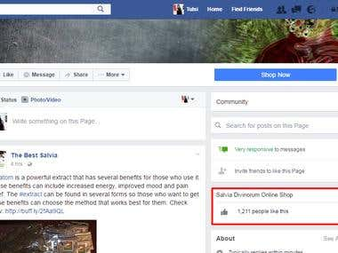 Improve Facebook Likes for The Best Salvia