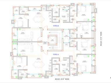 Autocad drafting floor plan