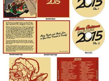Christmas Compilation Album Layout