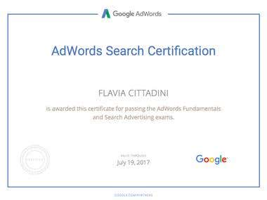 Google Adwords Advanced Search Certification