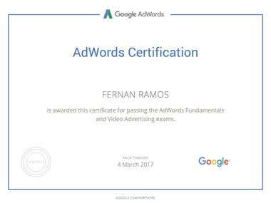 Certified Adwords Video Advertising Expert 2016/ Youtube Ads