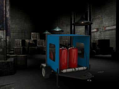 Fire Extinguisher Cart design