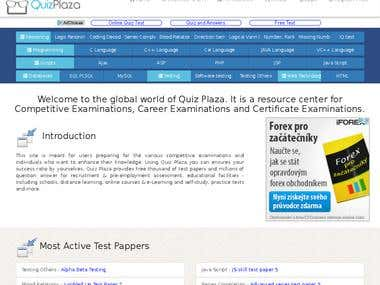 Educational Quiz Portal