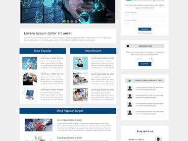 Script Homepage mockup