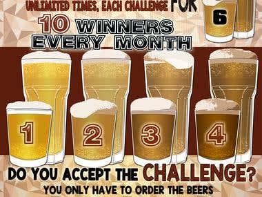 Beer Tasting Challenge Poster.