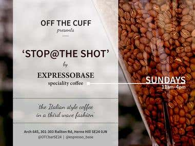 Promotional e-flyer for speciality coffee