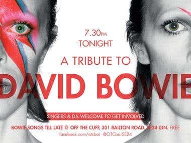 David Bowie tribute e-flyer