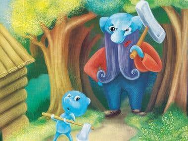 Smurfs by Mona Illustration