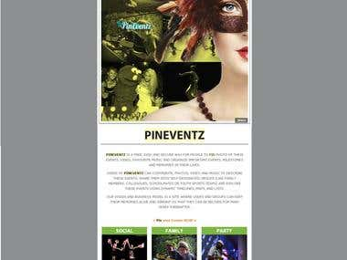 Pineventz email newsletter