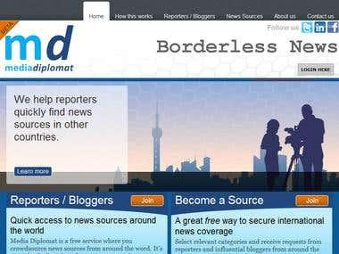 Wordpress Project: http://www.mediadiplomat.com/