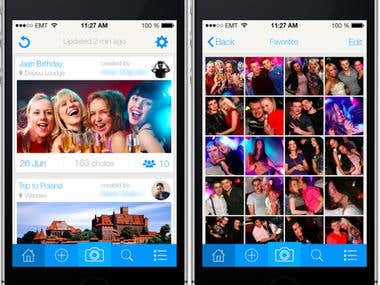 iOS Photo sharing app