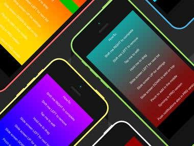 iOS Task tracking app