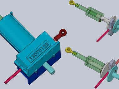 Actuator designed for a specific aerospace application