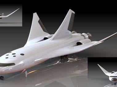 SpaceShip 3D Modelling