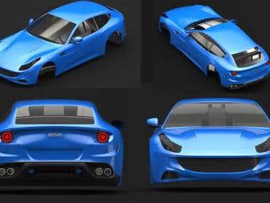 Ferrari FF 3D Modelling