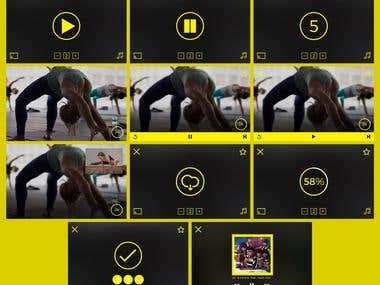 Gym App UI Mockup Design