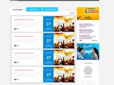 eventsansar- Web Design and Development in wordpress