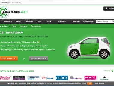 Its about Car insurance website.