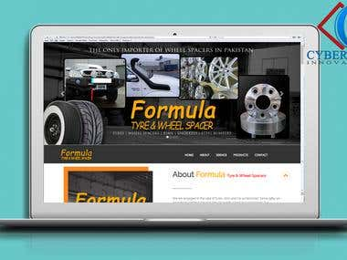A website Designed and Developed For a Tyre Shop.