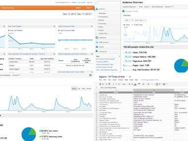 Google Analytics and Data Entry