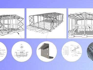 Steel shed with Metal 3D