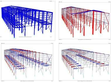 Structural analysis of steel shed