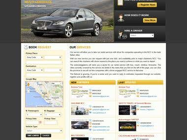 Vehicle Booking website