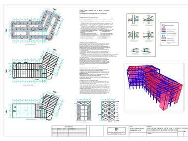 Structural analysis for a student's residence in Leicester